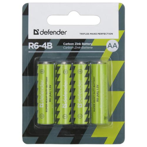 Батарейка Defender солевая AA R6