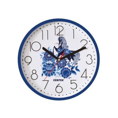 Часы настенные кварцевые CENTEK CT-7105 gzhel