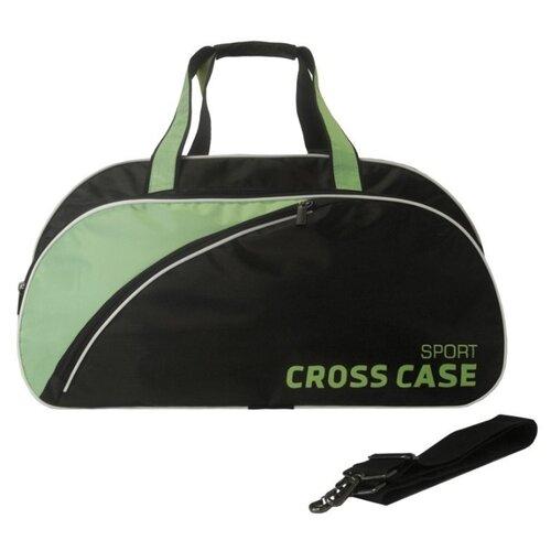 Сумка спортивная Cross Case CCS-1039, черный/бирюзовый