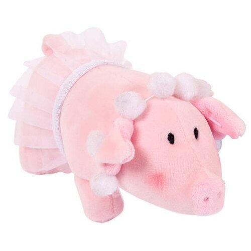 Мягкая игрушка ABtoys Свинка с бусами в юбке-пачке 15 см