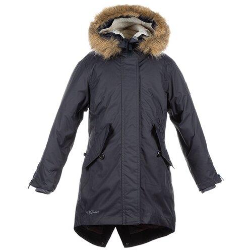Пальто Huppa Vivian размер 116, тёмно-серый