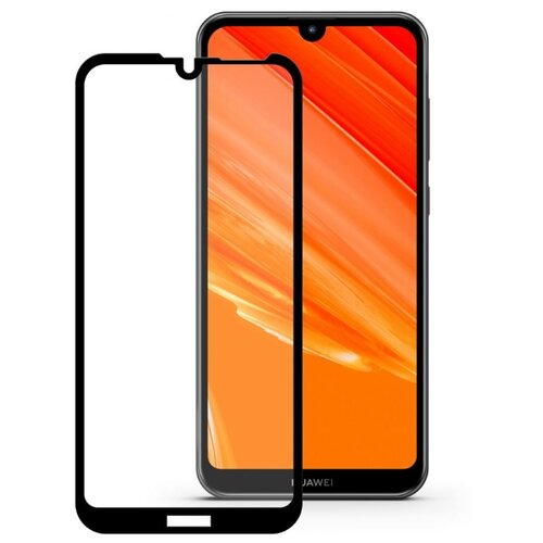 Защитное стекло Mobius 3D Full Cover Premium Tempered Glass для Huawei Y7 2019 black