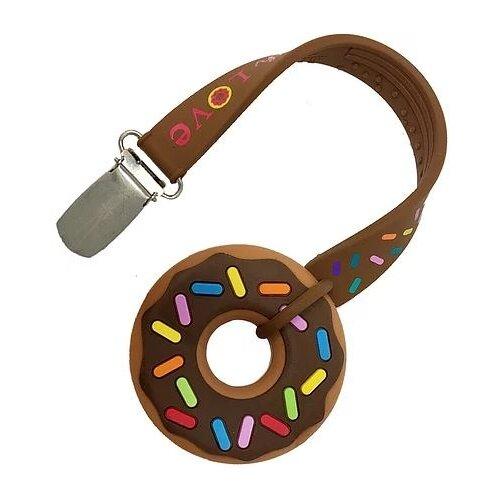 Прорезыватель Silli Chews Mini Donut коричневый