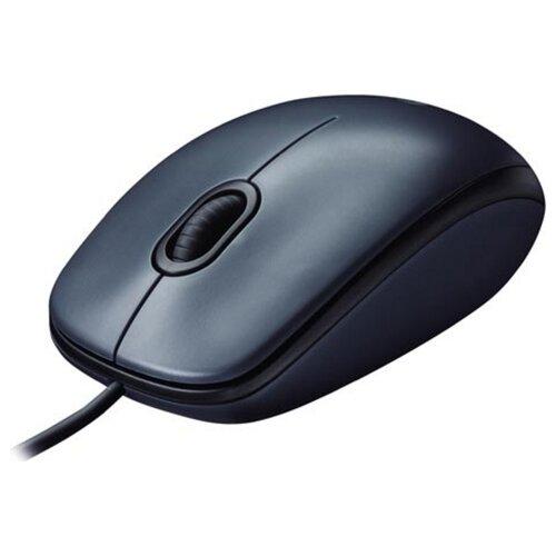 Мышь LOGITECH MOUSE M100 BLACK USB