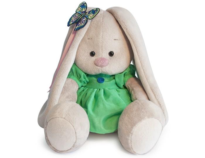 Мягкая игрушка Budi Basa Зайка Ми в зеленом платье с бабочкой 23 см