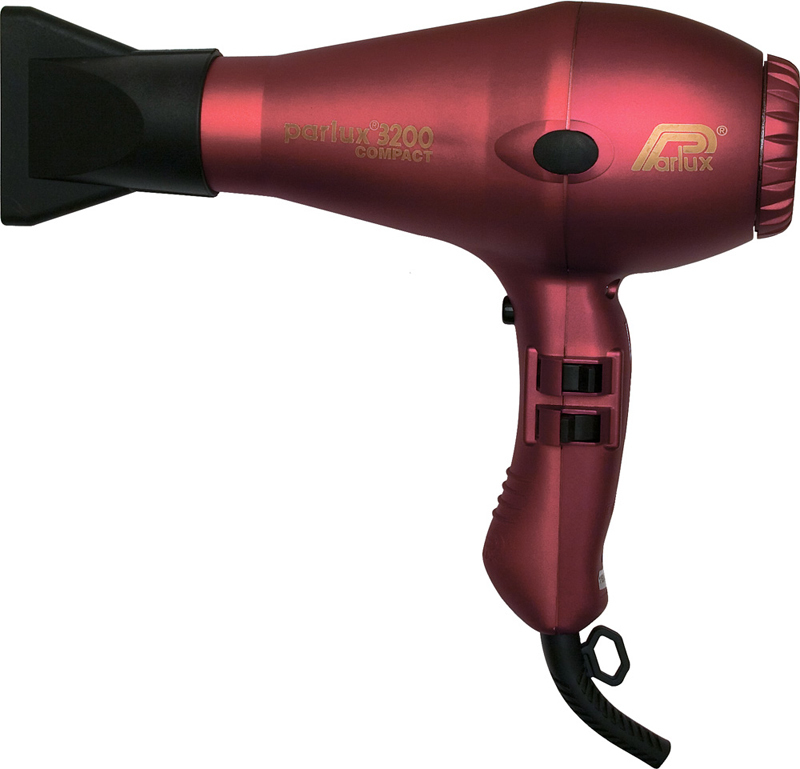 Фен Parlux 3200 Compact, 1900 Вт, 2 насадки, красный 0901-3200  red