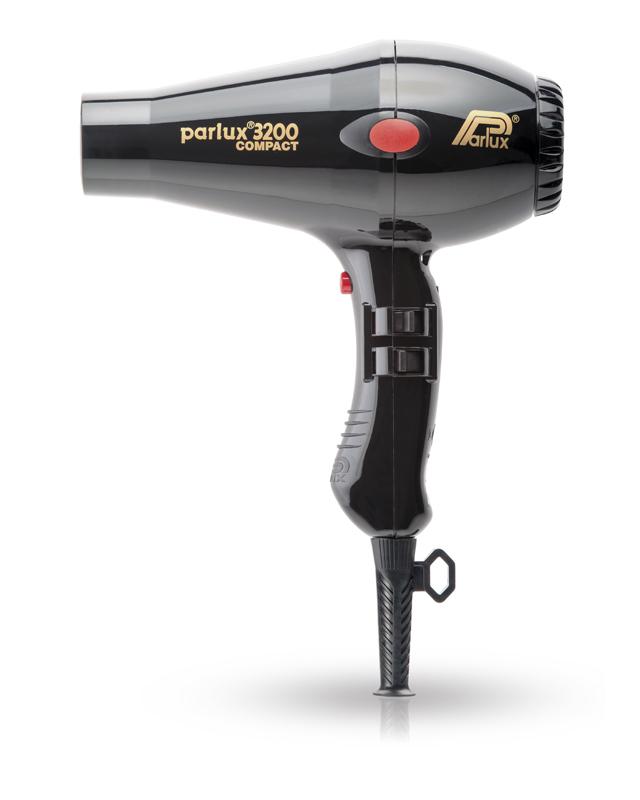 Фен Parlux 3200 Compact, 1900 Вт, 2 насадки, черный 0901-3200  black