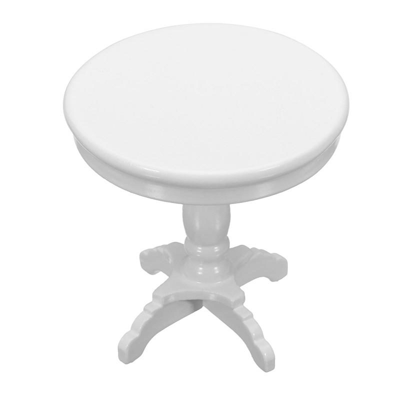 Миниатюрная мебель Деревянный круглый журнальный столик White Kids Home Game