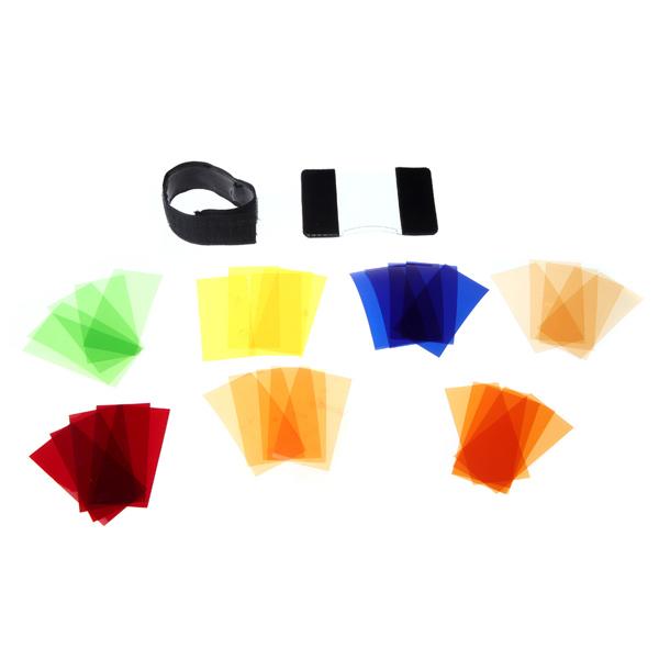 Универсальный цветной фильтр Speedlite Набор для Canon Nikon Pentax Godox Yongnuo Фонарик
