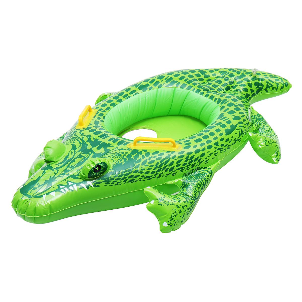 НадувныедетскиедетскиекрокодилыПлавающиекольца Float Лодка Seat Swim Бассейн Floaties