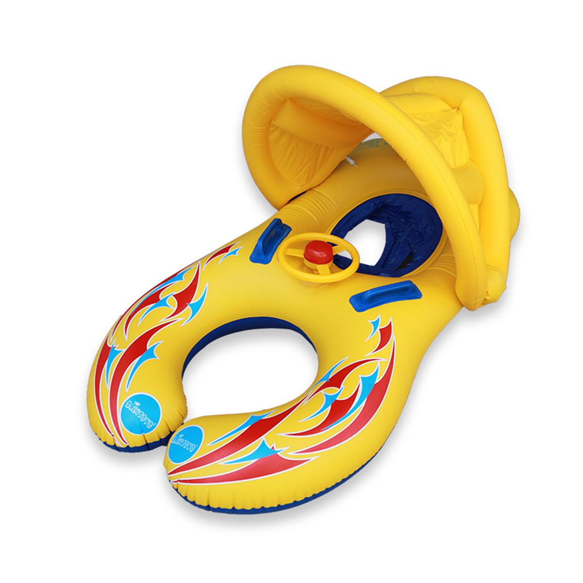 ™ДетскоеплаваниеБассейнВодяной поплавок Надувные детские защитные кольца Навес для сиденья