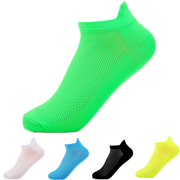 Флуоресцентные цвета Мужская короткие трубки носки случайные дышащий спортивные носки