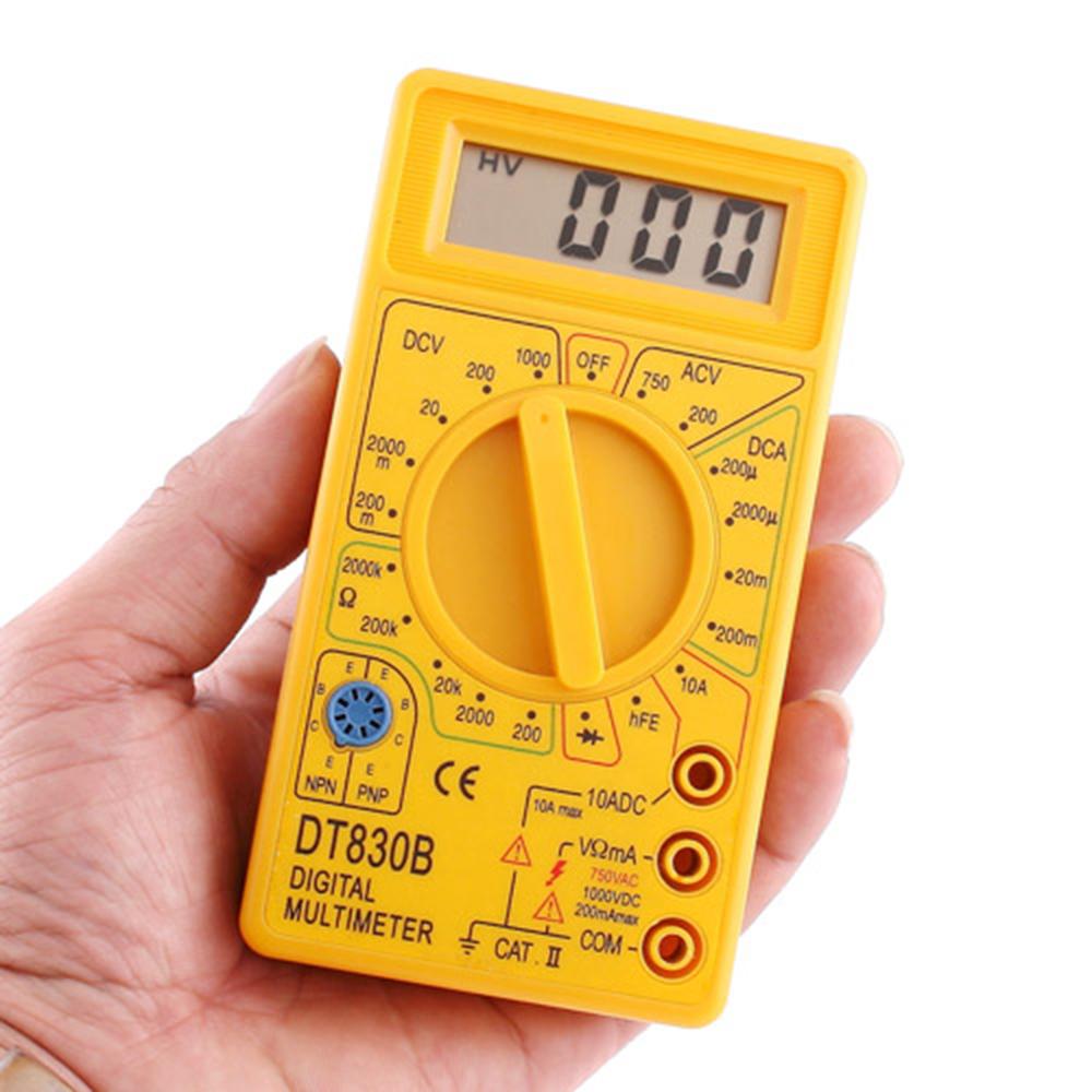 В 10A LCD Портативный Цифровой Мультиметр AC / DC Амперметр Вольтметр Омметр Электрический Тестер