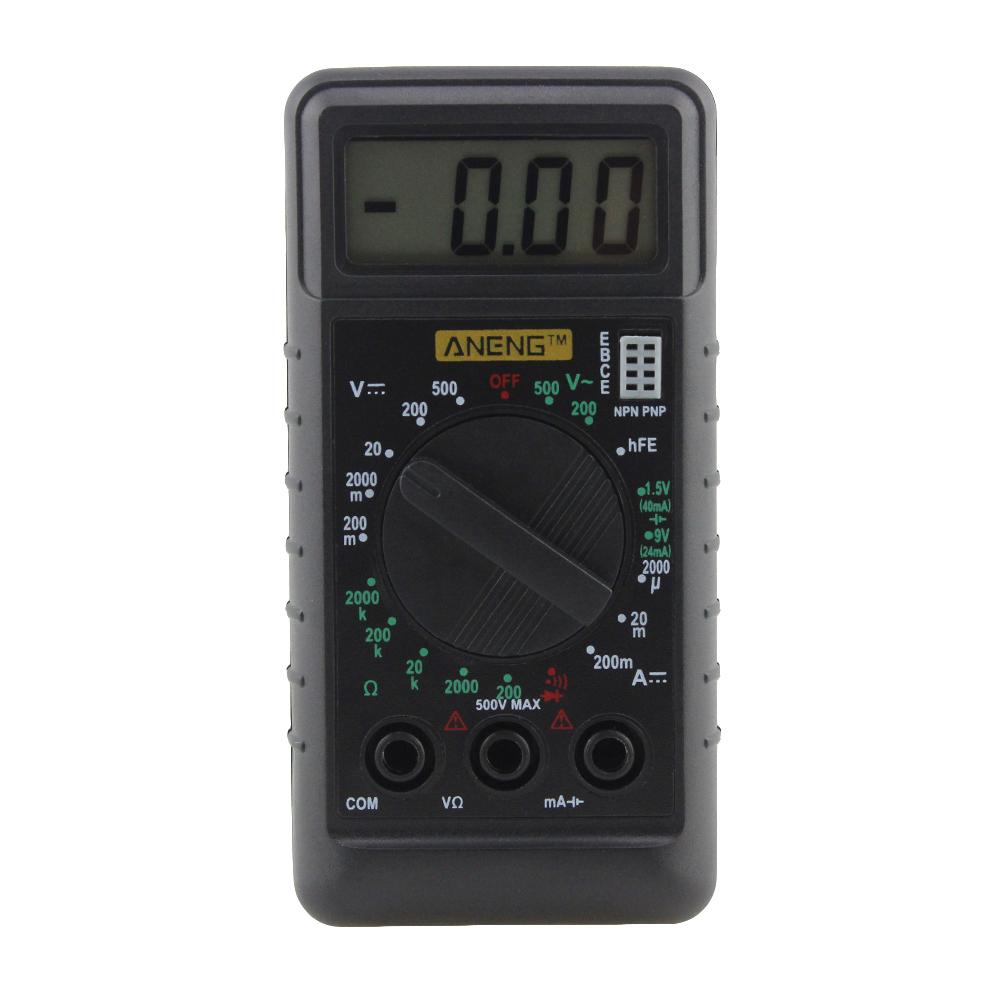 Цифровой Мультиметр с защитой от перегрузки тока и напряжения, Ом Омметр DC AC LCD Портативный