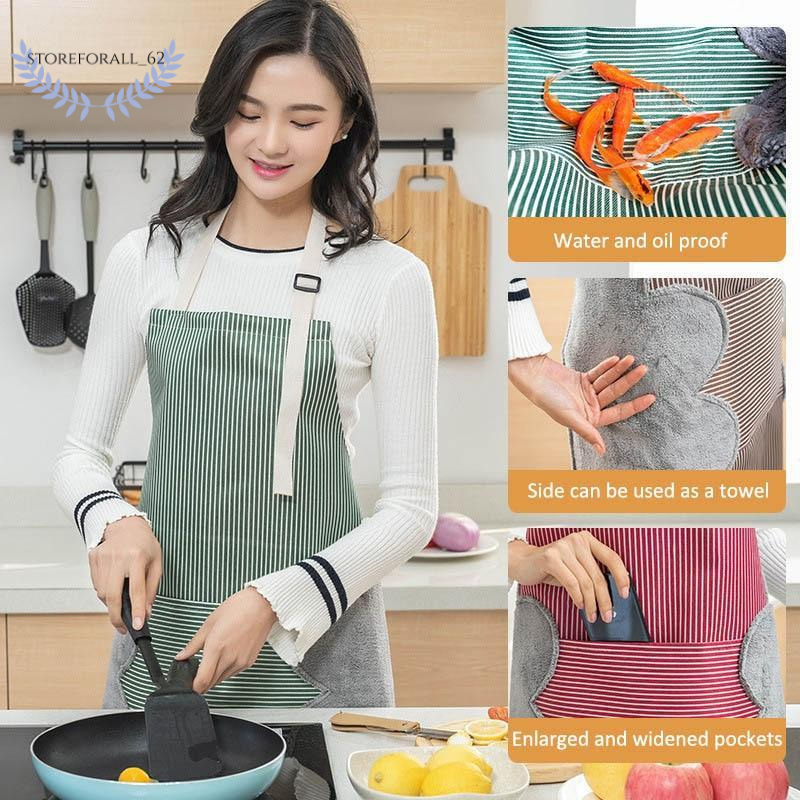 Стираемая рука Водонепроницаемы кухонный фартук талия женский рабочий халат рука Полотенце фартуки