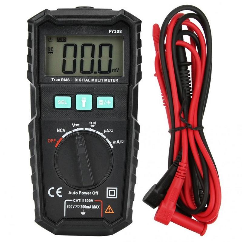 Карманный мини-цифровой Мультиметр Мультиметр Многофункциональный портативный автоматический дальномер Автометр для школьных экс