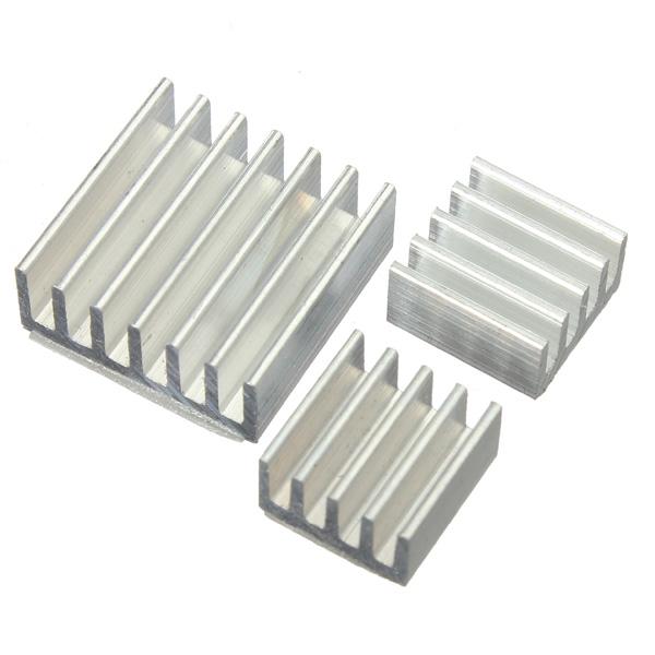 Комплект 3шт клейкий алюминиевый Охладитель радиатора Кулер для охлаждения малины пи