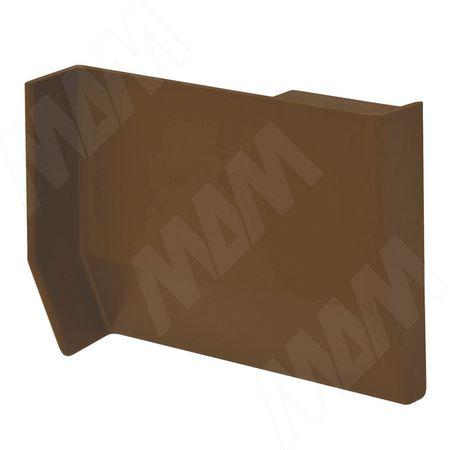 801 Заглушка для мебельного навеса, пластик, коричневая, левая (K013.C00L.971)