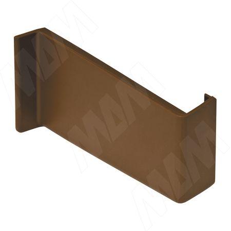 Заглушка для мебельного навеса, пластик, коричневая, левая (K015.C00L.971/RU)