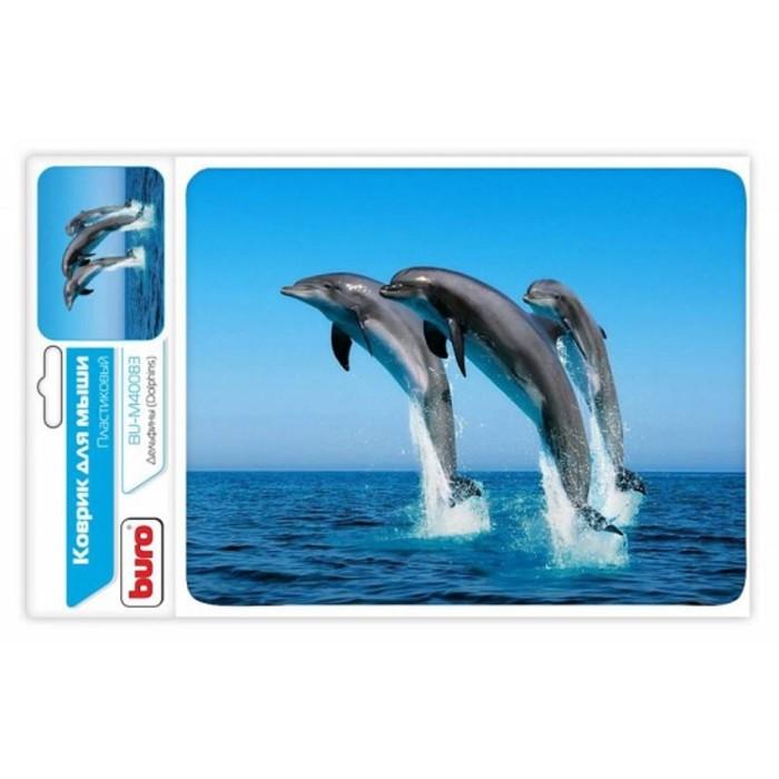 Коврик для мыши Buro BU-M40083 рисунок/дельфины