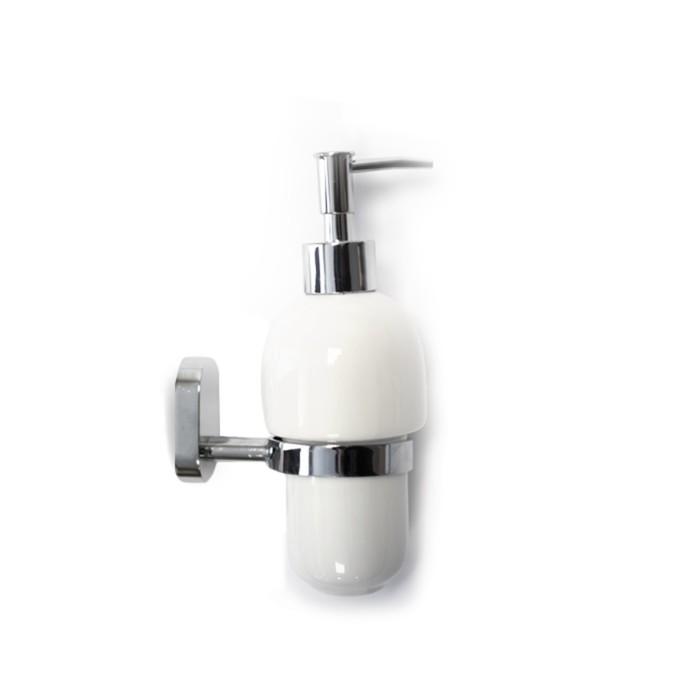 Дозатор для жидкого мыла FLORA, цвет хром