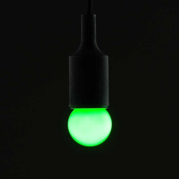 Лампа светодиодная декоративная Шарик d=40 мм, 6 led SMD, ЗЕЛЕНЫЙ, фасовка по 100 штук