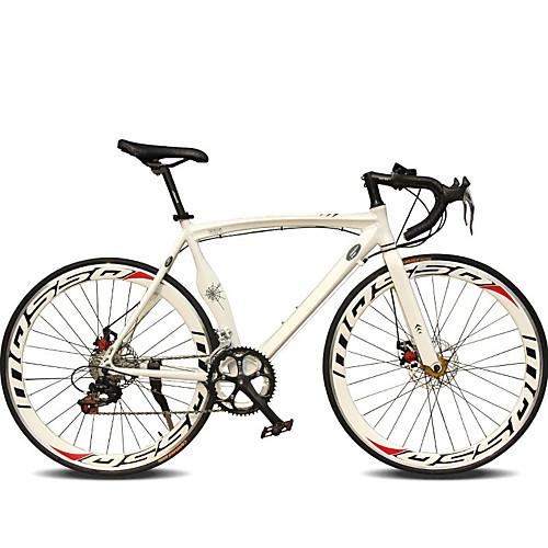 Дорожные велосипеды Велоспорт 14 Скорость 26 дюймы / 700CC SHIMANO TX30 Двойной дисковый тормоз Обычные Моноблок Обычные Алюминиевый сплав / #