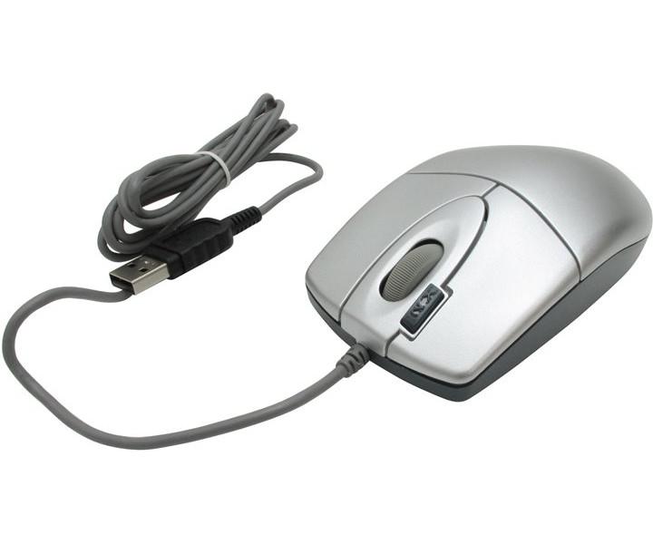 Мышь A4Tech OP-620D Silver