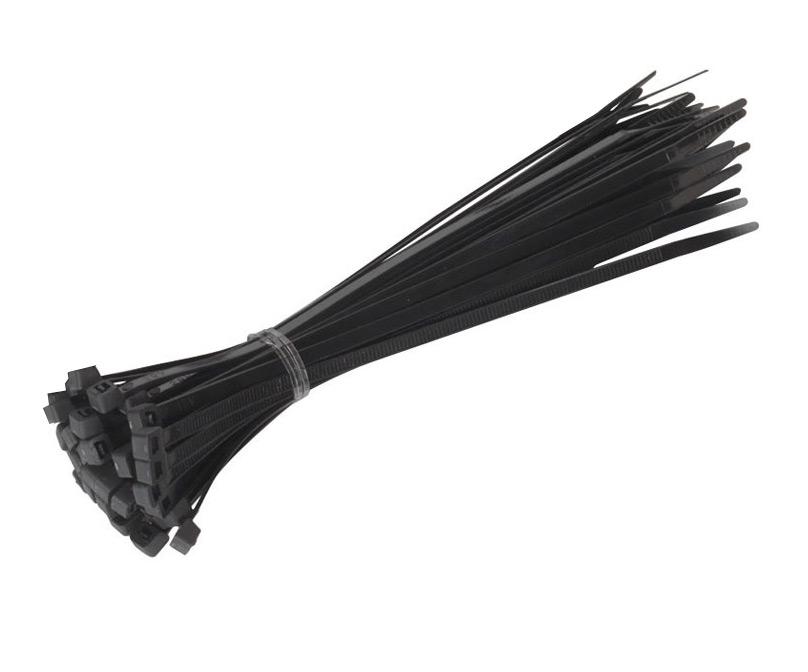 Стяжки нейлоновые ExeGate CV-100B 100mm (100шт) Black 253847