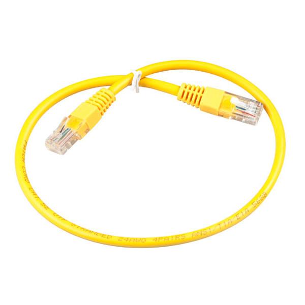 Сетевой кабель ExeGate UTP cat.5e 0.3m Yellow 258664