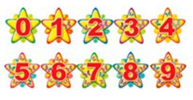 Картинки цифр на звездочках