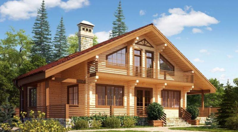 Дом обязательно будет очень теплым и экологичным если построен из качественного бруса
