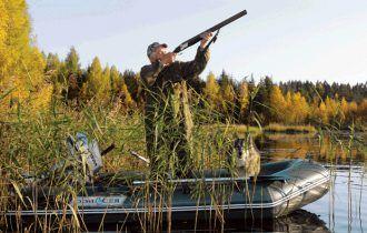 Надувная лодка для охоты
