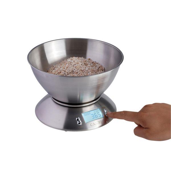 CAMRY-Электронные-Кухонные-Весы-2-15Л-Пищевая-Миска-Полностью-Из-Нержавеющей-Стали-и-Столовая-База-Для