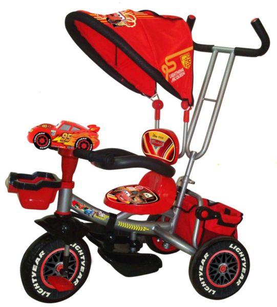 Детский трехколесный велосипед с козырьком