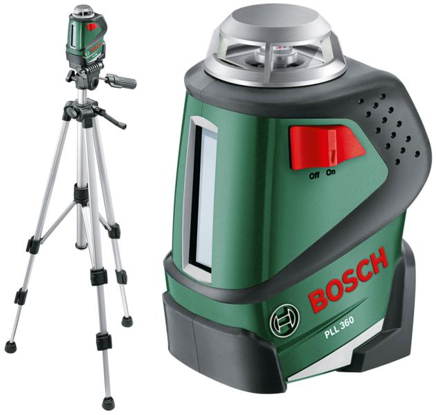 Bosch PLL 360 Set – лучший линейный лазерный нивелир