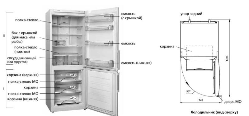Модель Атлант ХМ 4524-100 N - лучший холодильник с системой ноу-фрост