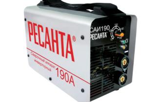 Обзор ручного сварочного аппарата Ресанта САИ 190