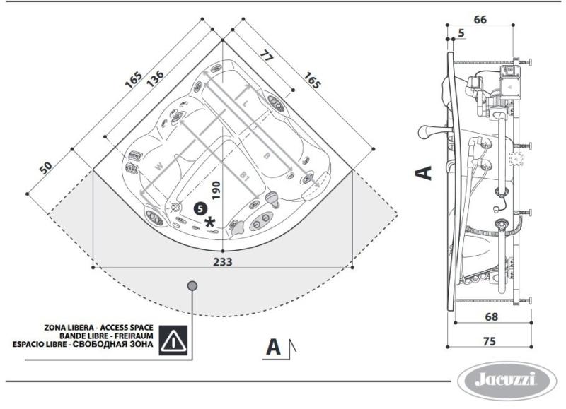 Характеристики Jacuzzi Maxima TOP 9F43-788A