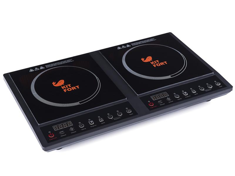 Kitfort – лучшая индукционная плита двухкомфорочная настольная