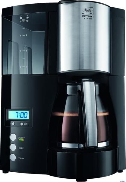Melitta OPTIMA Glass Timer – лучшая капельная кофеварка с подогревом