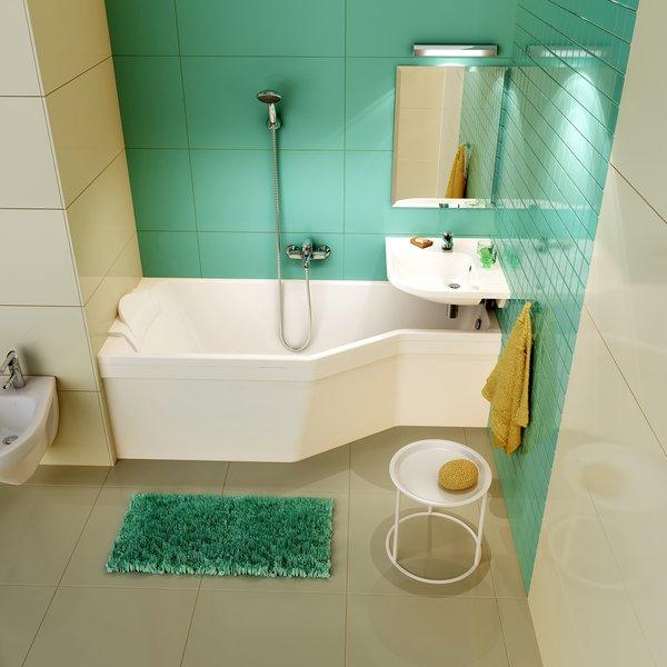 Ravak BeHappy – лучшая акриловая асимметричная ванна