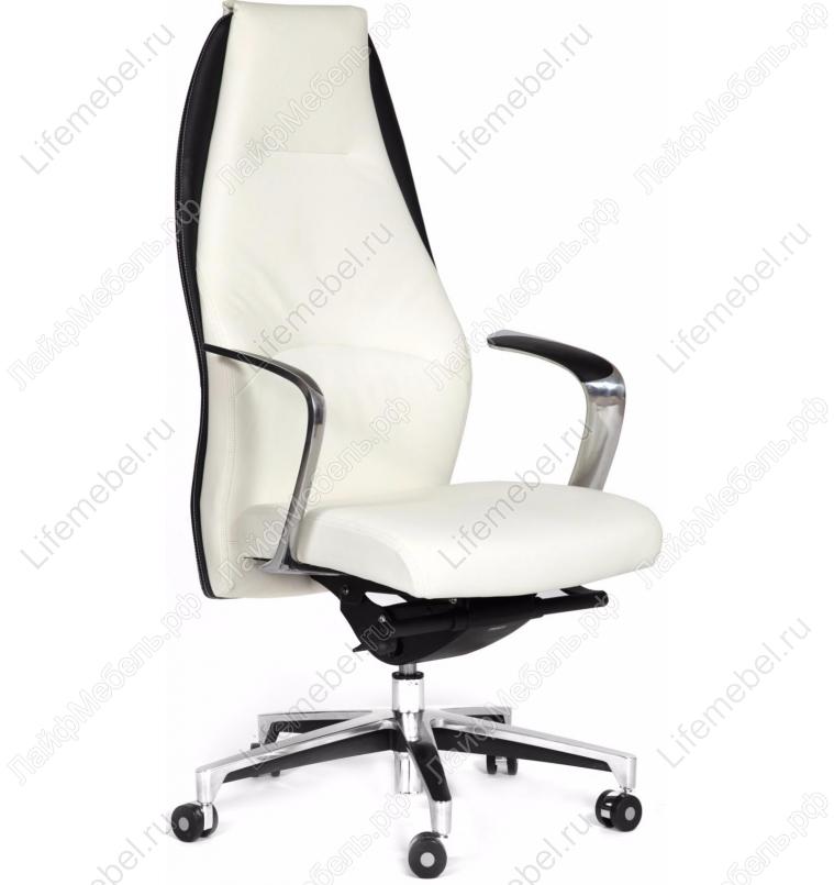Компьютерное кресло Chairman Basic кожа белая