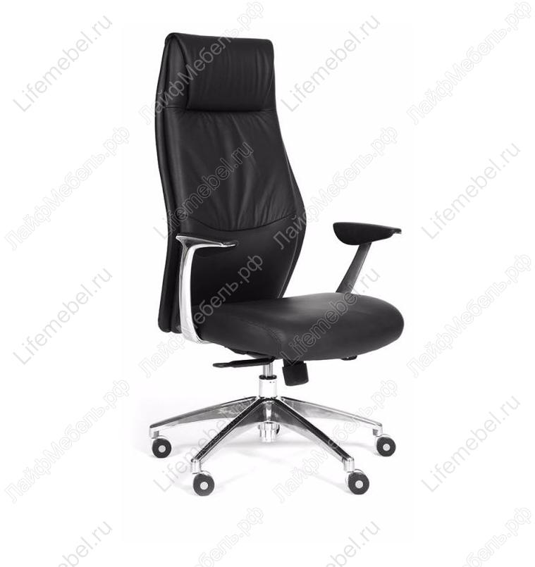 Компьютерное кресло Chairman Vista черная экокожа