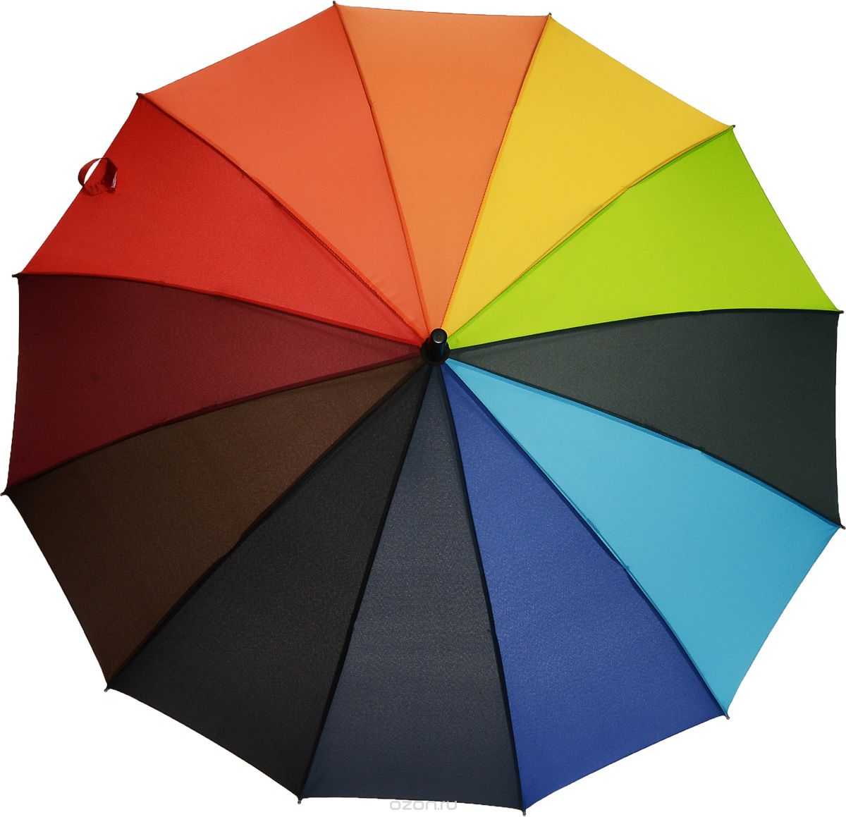 """Зонт-трость женский Эврика """"Радуга"""", цвет: мультицвет. 91050"""