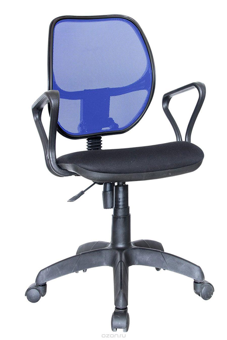 Компьютерное кресло Марс Самба, ткань, синяя/черная