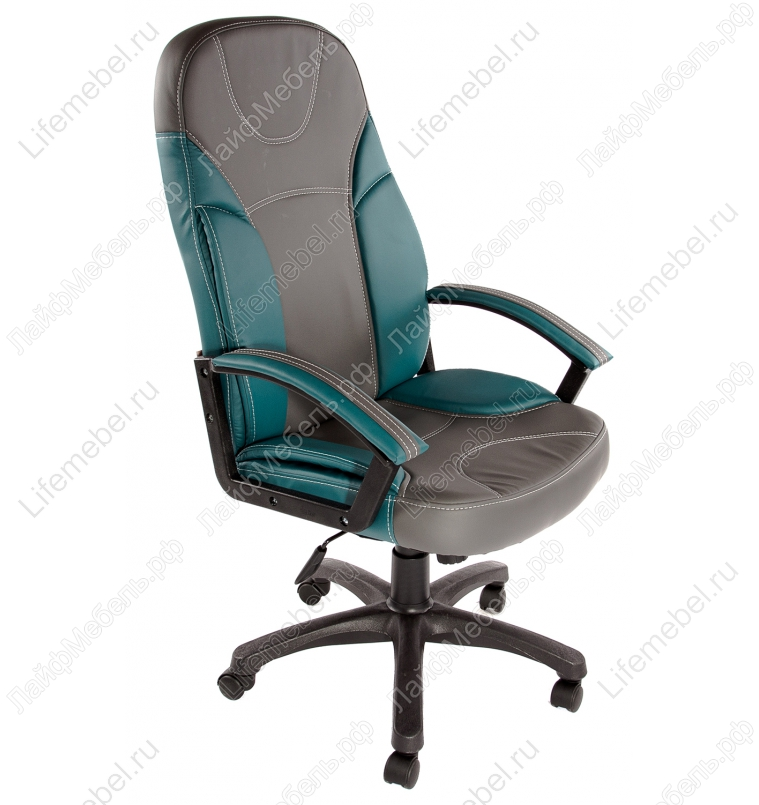 Компьютерное кресло «Твистер» (Twister) металлик (серое) / бирюзовое