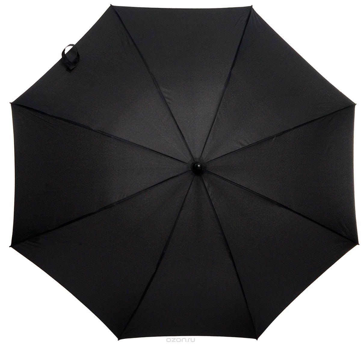 """Зонт-трость мужской """"Zest"""", полуавтомат, цвет: черный. 41610"""