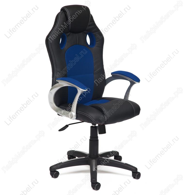 Компьютерное кресло «Рейсер» (Racer) черный / синий